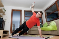 <strong>Exercise at home</strong> with a personal trainer
